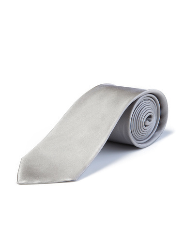 Silk and Cashmere Kravat Gri